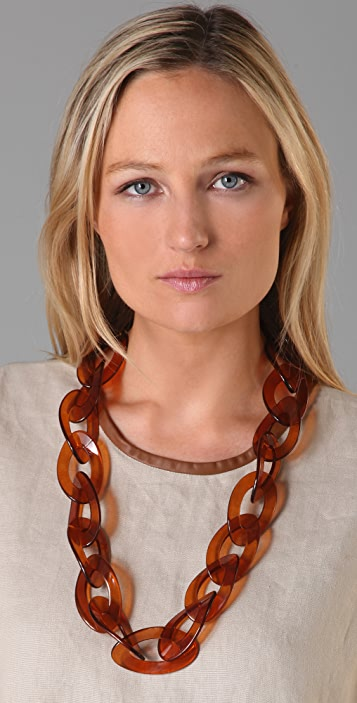 Kenneth Jay Lane Tortoise Link Necklace