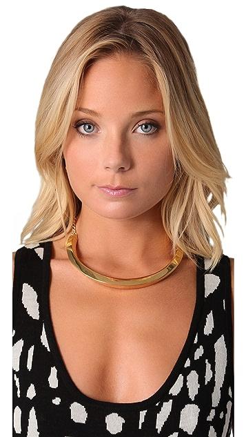 Kenneth Jay Lane Chain Textured Bib Necklace