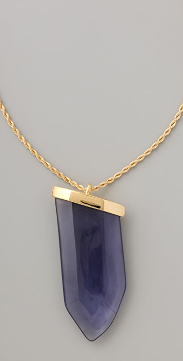Kenneth Jay Lane Sapphire Prism Pendant Necklace