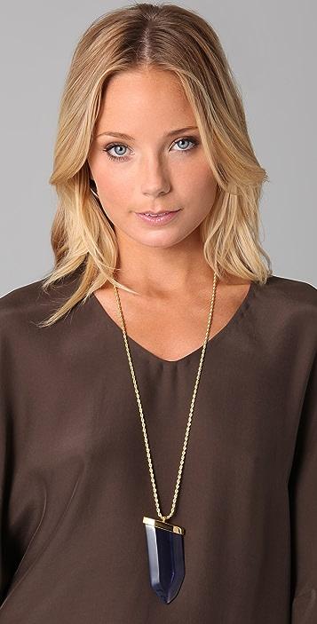 Kenneth Jay Lane Sapphire Prism Pendant Necklace