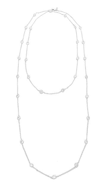 Kenneth Jay Lane Large CZ Stations Necklace