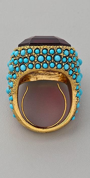 Kenneth Jay Lane Antiqued Cocktail Ring