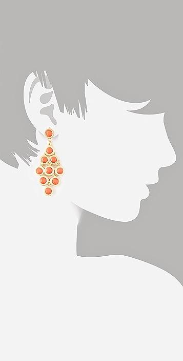 Kenneth Jay Lane Cabochon Chandelier Earrings