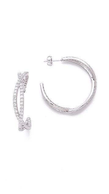 Kenneth Jay Lane Eternity Pave Hoop Earrings