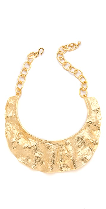 Kenneth Jay Lane Textured Bib Necklace