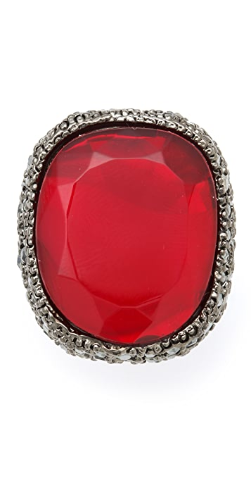 Kenneth Jay Lane Red Opal Cocktail Ring