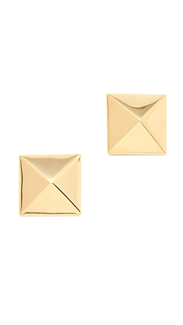 Kenneth Jay Lane Pyramid Stud Earrings