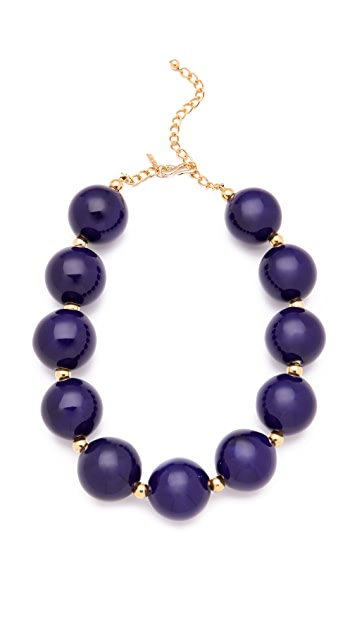 Kenneth Jay Lane Large Ceramic Bead Necklace