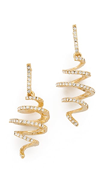 Kenneth Jay Lane Crystal Spiral Earrings