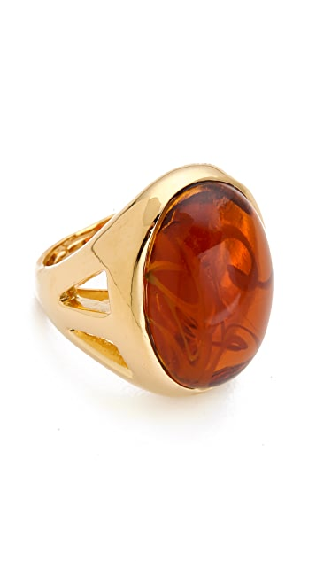 Kenneth Jay Lane Flawed Topaz Cocktail Ring