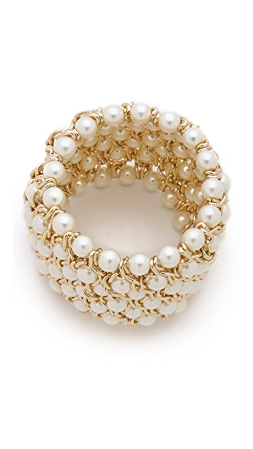 Kenneth Jay Lane Gold Stretch Bracelet