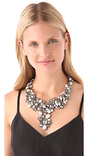Kenneth Jay Lane Crystal Bib Necklace