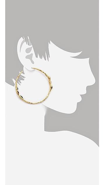 Kenneth Jay Lane Stone Hoop Earrings