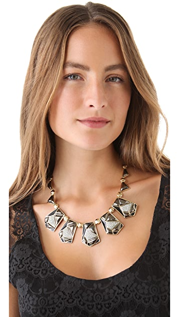 Kenneth Jay Lane Geometric Statement Necklace