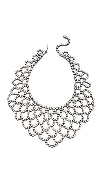 Kenneth Jay Lane Crystal Lace Bib Necklace