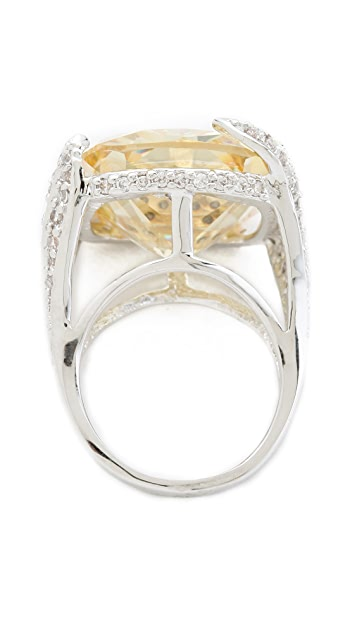 Kenneth Jay Lane Cushion Cut Pave Ring
