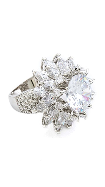Kenneth Jay Lane Dimensional Flower Ring