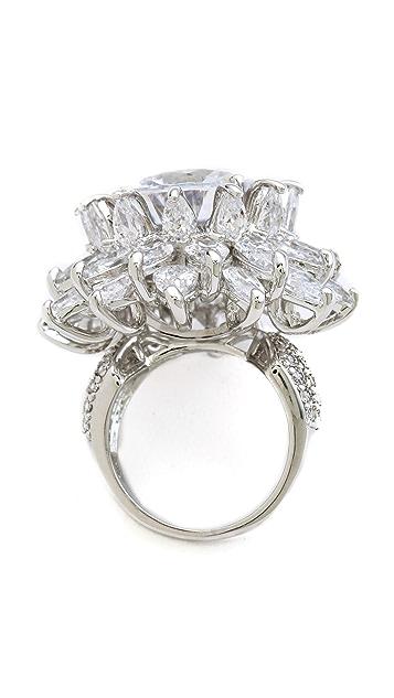 Kenneth Jay Lane Dimensional Flower Ring