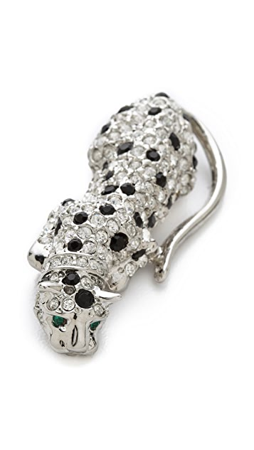 Kenneth Jay Lane Spotted Leopard Pin