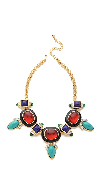 Kenneth Jay Lane Deco Statement Necklace