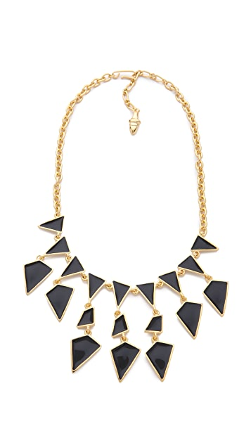 Kenneth Jay Lane Enamel Geo Drops Necklace