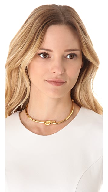 Kenneth Jay Lane Polished Knotted Collar Necklace