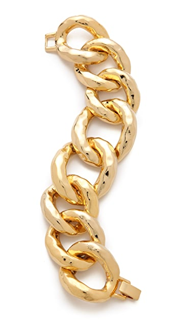 Kenneth Jay Lane Hammered Link Bracelet