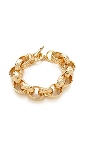 Kenneth Jay Lane Textured Link Toggle Bracelet