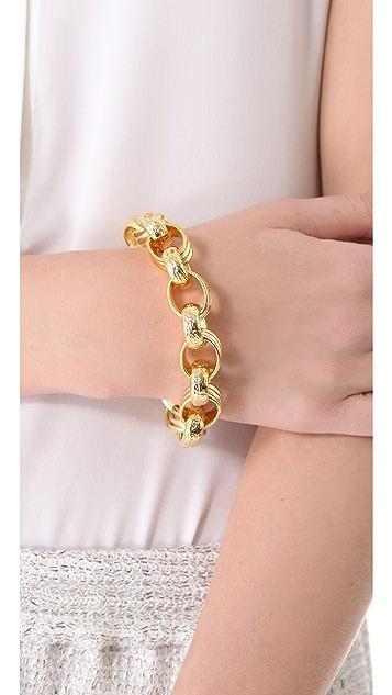 Kenneth Jay Lane Textured Link Toggle Bracelet