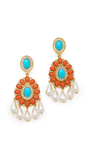 Kenneth Jay Lane Chandelier Earrings