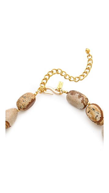 Kenneth Jay Lane Natural Stone Pebble Necklace