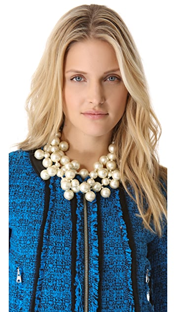 Kenneth Jay Lane Multi Strand Cluster Necklace