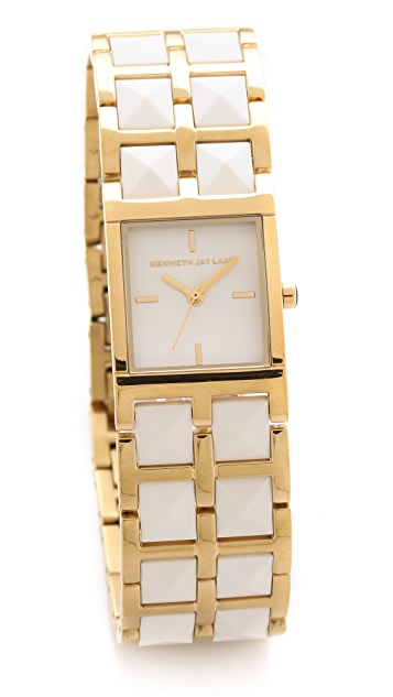 Kenneth Jay Lane Double Stud Bracelet Watch