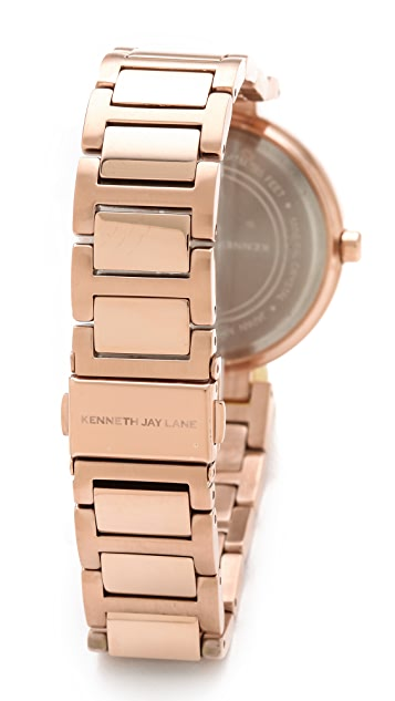Kenneth Jay Lane Slim Bracelet Watch