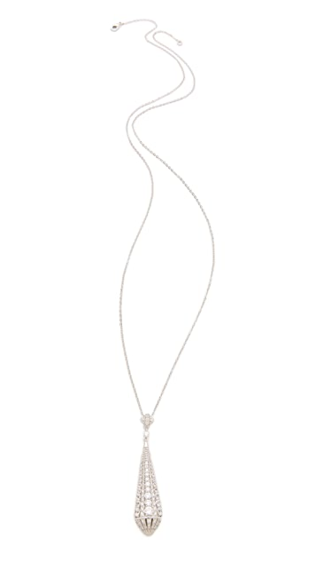 Kenneth Jay Lane Tear Deco Pendant Necklace