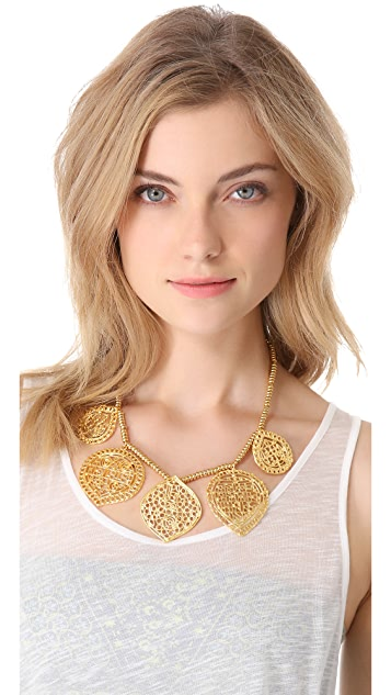 Kenneth Jay Lane Filigree 5 Drop Hook Necklace