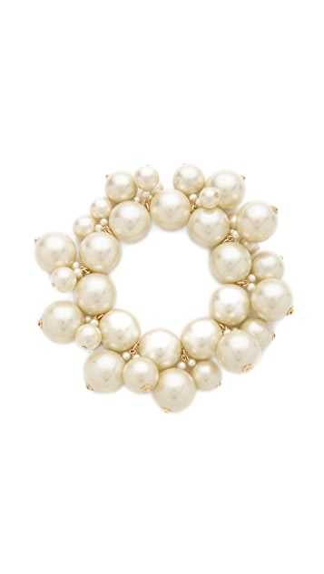 Kenneth Jay Lane Bead Cluster Stretch Bracelet