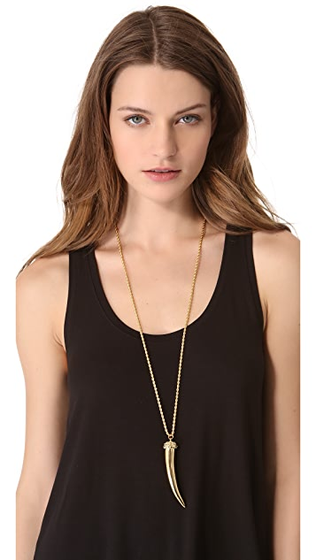 Kenneth Jay Lane Horn Necklace
