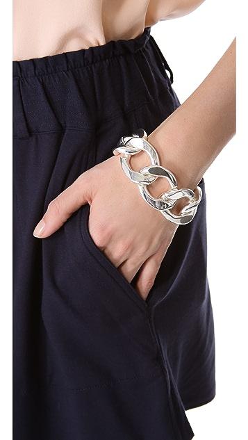 Kenneth Jay Lane Large Flat Link Bracelet