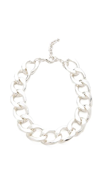Kenneth Jay Lane Large Flat Link Necklace