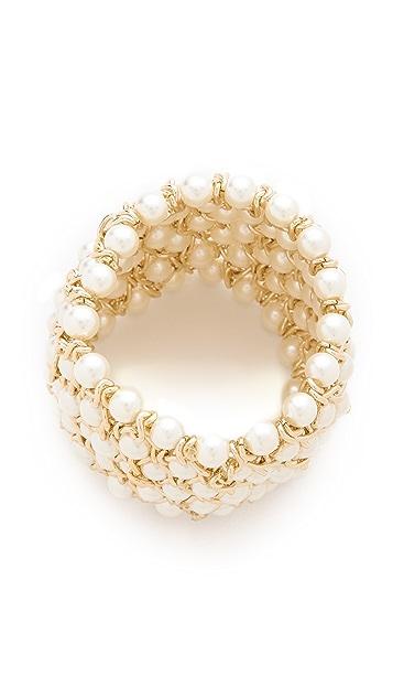 Kenneth Jay Lane Twist Stretch Bracelet
