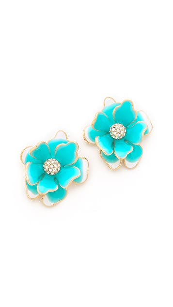 Kenneth Jay Lane Flower Post Earrings