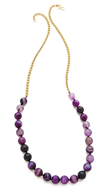 Kenneth Jay Lane Agate Bead Necklace