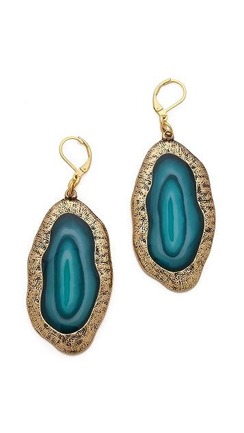 Kenneth Jay Lane Natural Crystal Earrings
