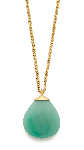 Kenneth Jay Lane Round Teardrop Pendant Necklace