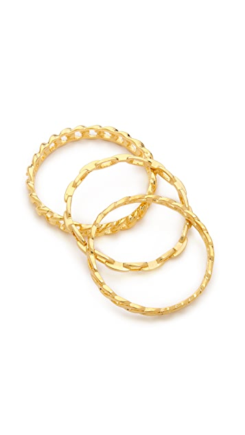 Kenneth Jay Lane Bangle Bracelet Set