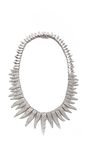 Kenneth Jay Lane Round CZ Pave Sunburst Necklace