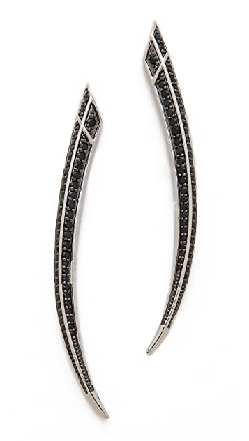 Kenneth Jay Lane Round CZ Pave Spike Earrings