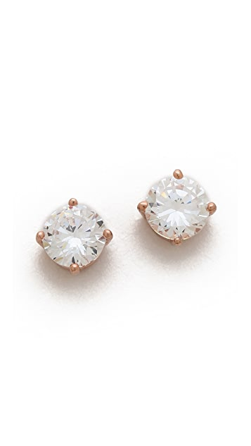 Kenneth Jay Lane Round CZ Earrings