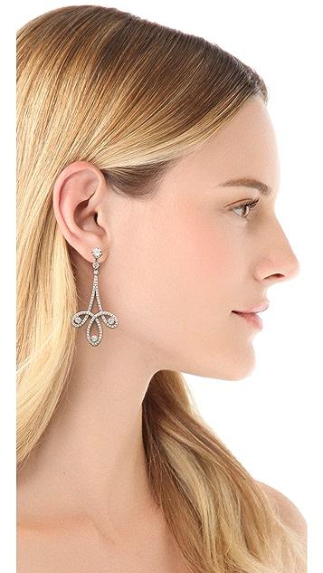Kenneth Jay Lane Swirl Deco Post Earrings